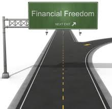 image of split road to financial freedom
