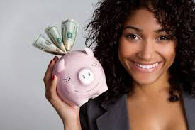 image - woman and piggy bank